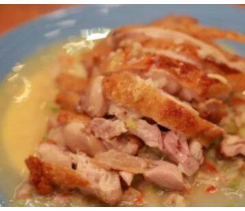 葱油脆皮鸡